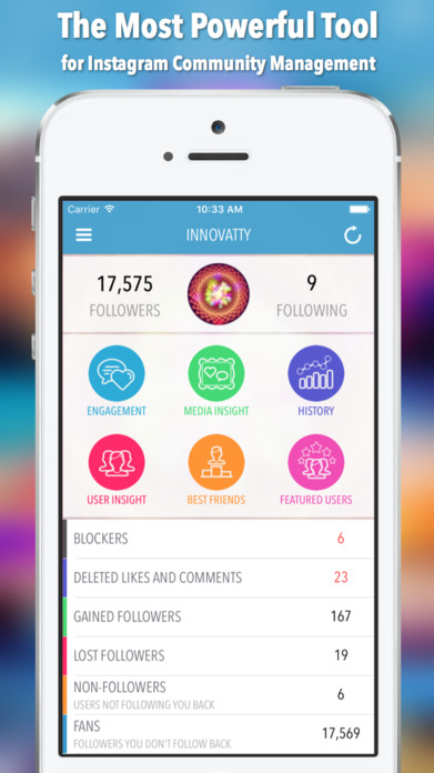 InsTrack for Instagram - The Most Powerful InstaFollow Tool for Tracking Instgram Followers, Unfollowers, Best Friends, Ghost Users Plus More Screenshot