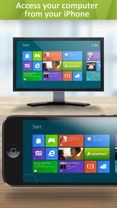 Splashtop Personal - Remote Desktop for iPhone Screenshot