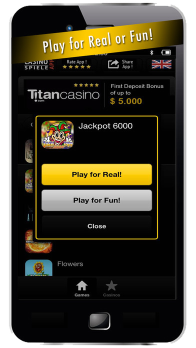 CasinoApp - Casino Slot Games and Casino Games Screenshot on iOS