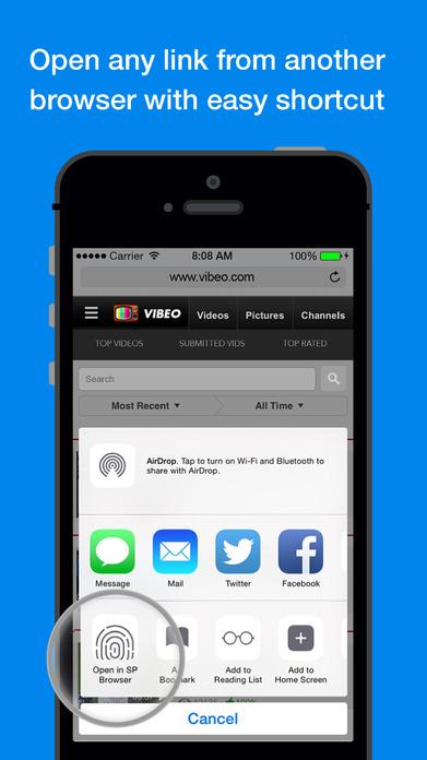 Secure Private Browser Screenshot