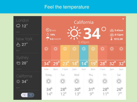 Weather glance - accurate & beautiful forecast with widget Screenshot