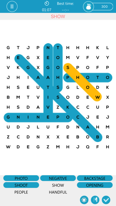 Musical Word Puzzle Game App for La La Land Screenshot on iOS