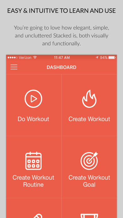 stacked workout tracker for weight lifting apprecs