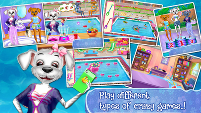 Baby Puppy Swimming Pool Party Screenshot on iOS
