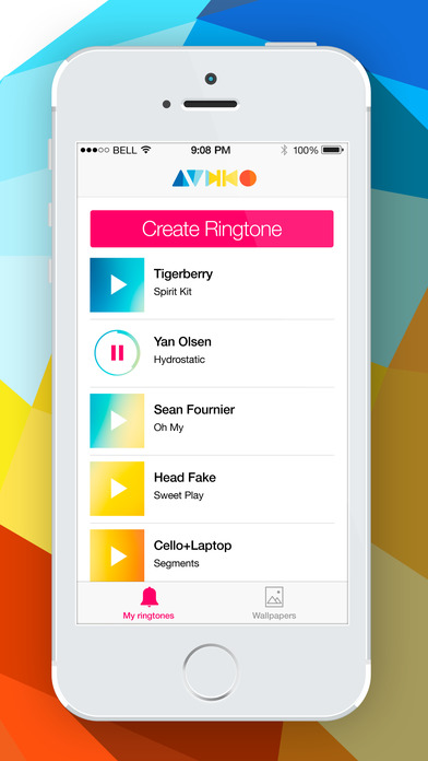 Audiko Ringtones for iPhone Lite Screenshot