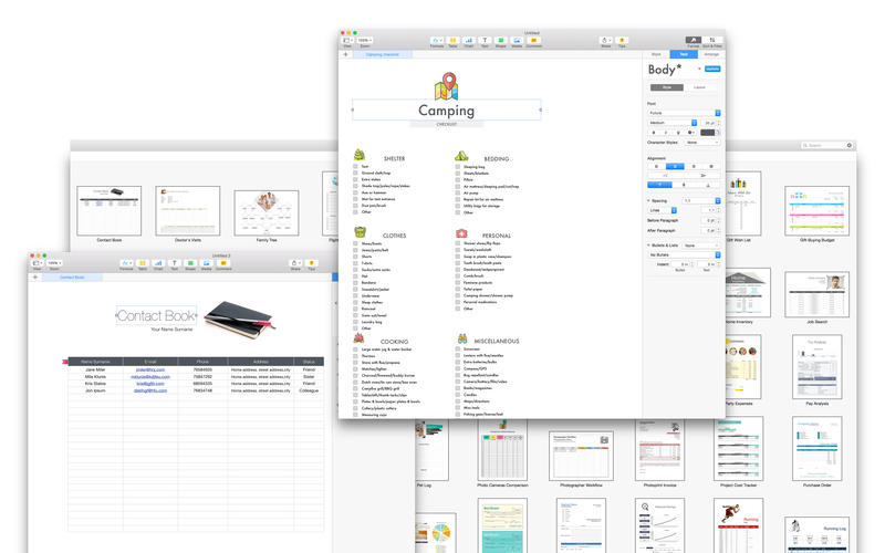 Templates Bundle for iWork - Templates Guru Screenshot