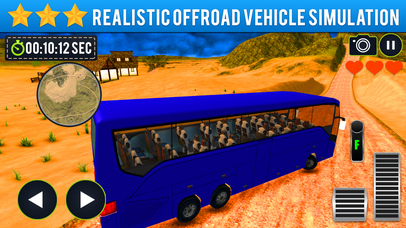 Offroad Bus Driving Sim-ulator 2017 Screenshot on iOS