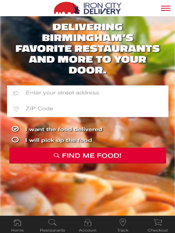 Iron City Food Delivery Birmingham