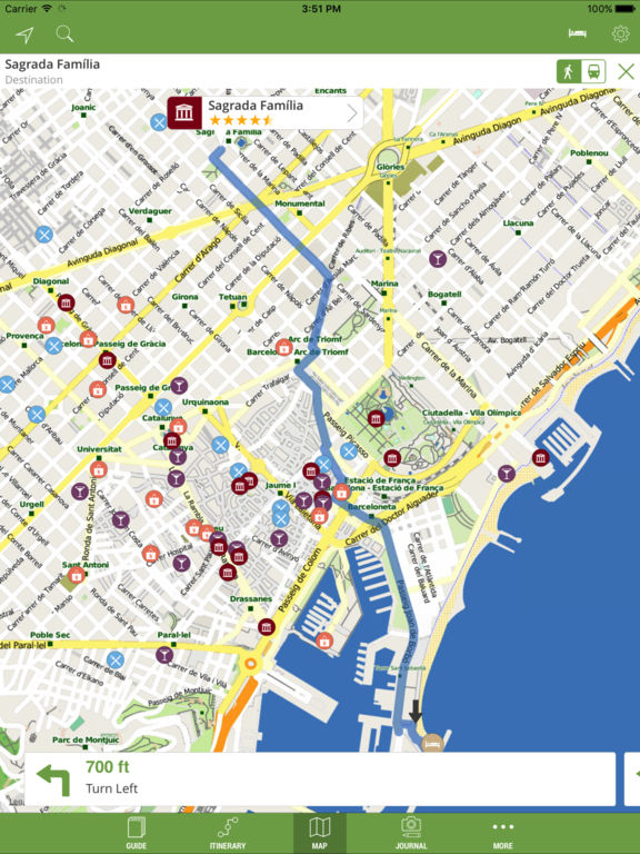 Barcelona Travel Guide (with Offline Maps) Screenshots