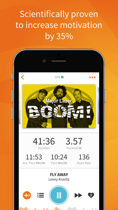 RockMyRun - Workout Music & Running Tracker Screenshot