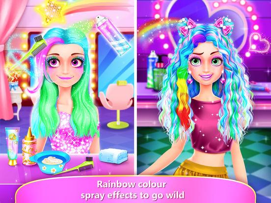App Shopper: Rainbow Hair Salon! Girl Kids Dressup Makeup ...