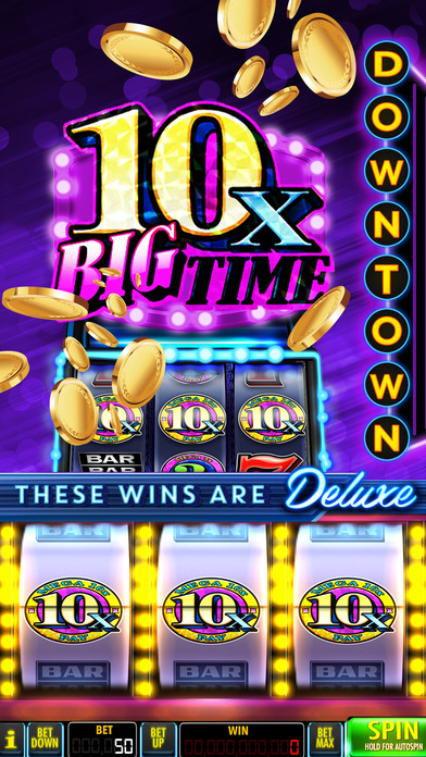 SLOTS Downtown Deluxe - Vegas Classic Slot Casino Screenshot on iOS