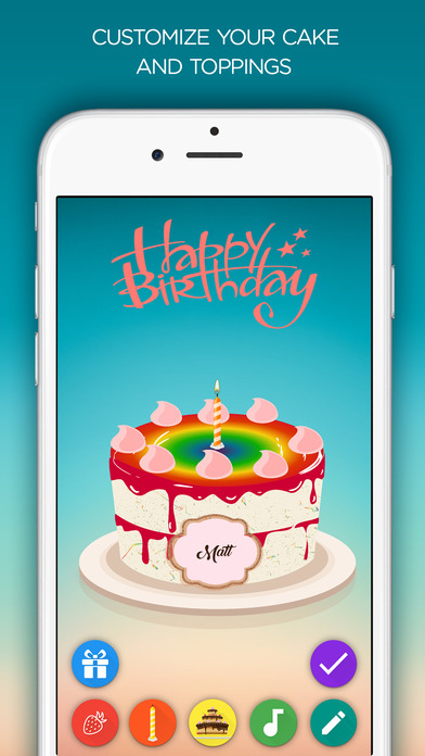 Birthday Cake App Blow Out Candles