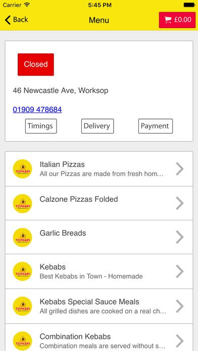 App Shopper Topkapi Kebab Worksop Food Drink