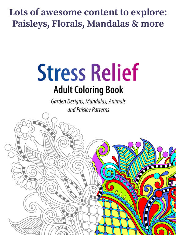 App Shopper: Coloring Book For Adults - Paisleys Edition ...