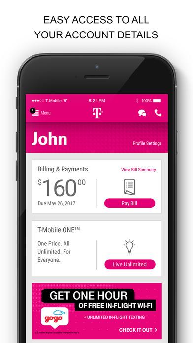 T Mobile Ipad App