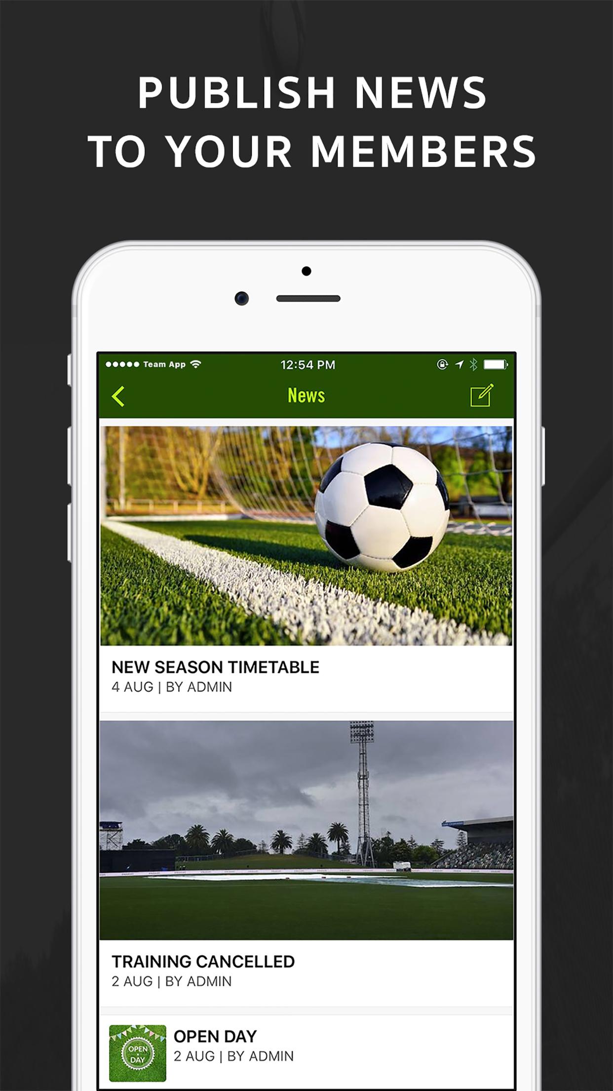 Team App Screenshot