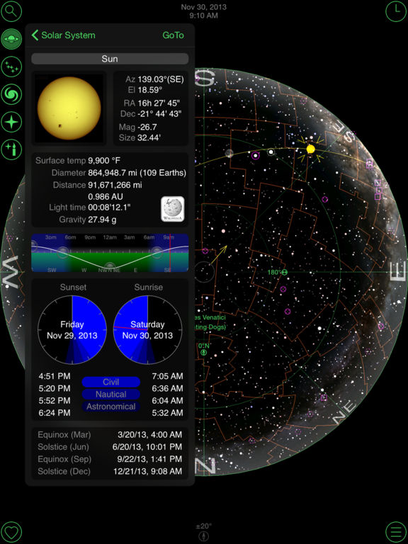 GoSkyWatch Planetarium for iPad - Astronomy Guide Screenshot