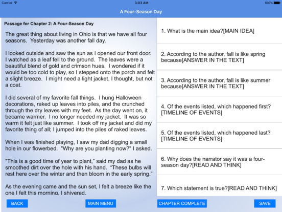 3rd Grade Reading Comprehension Practice IPA Cracked for iOS ...