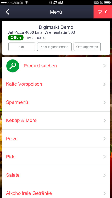 Jet Food Store Application