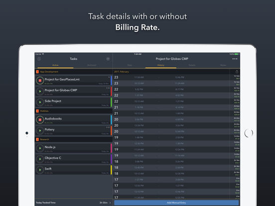 Timelogger: Time Tracking for Freelance & Routines Screenshot