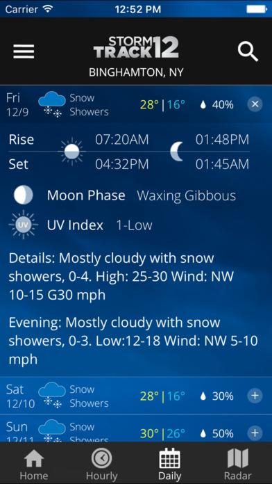 WBNG Storm Track 12 Screenshot