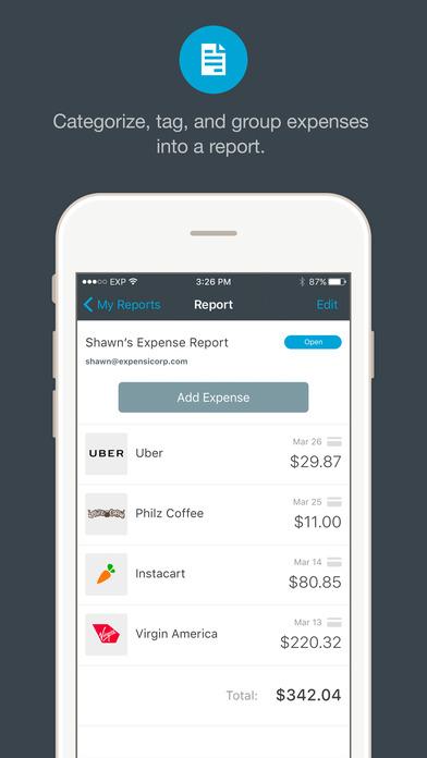 expenses ipad app