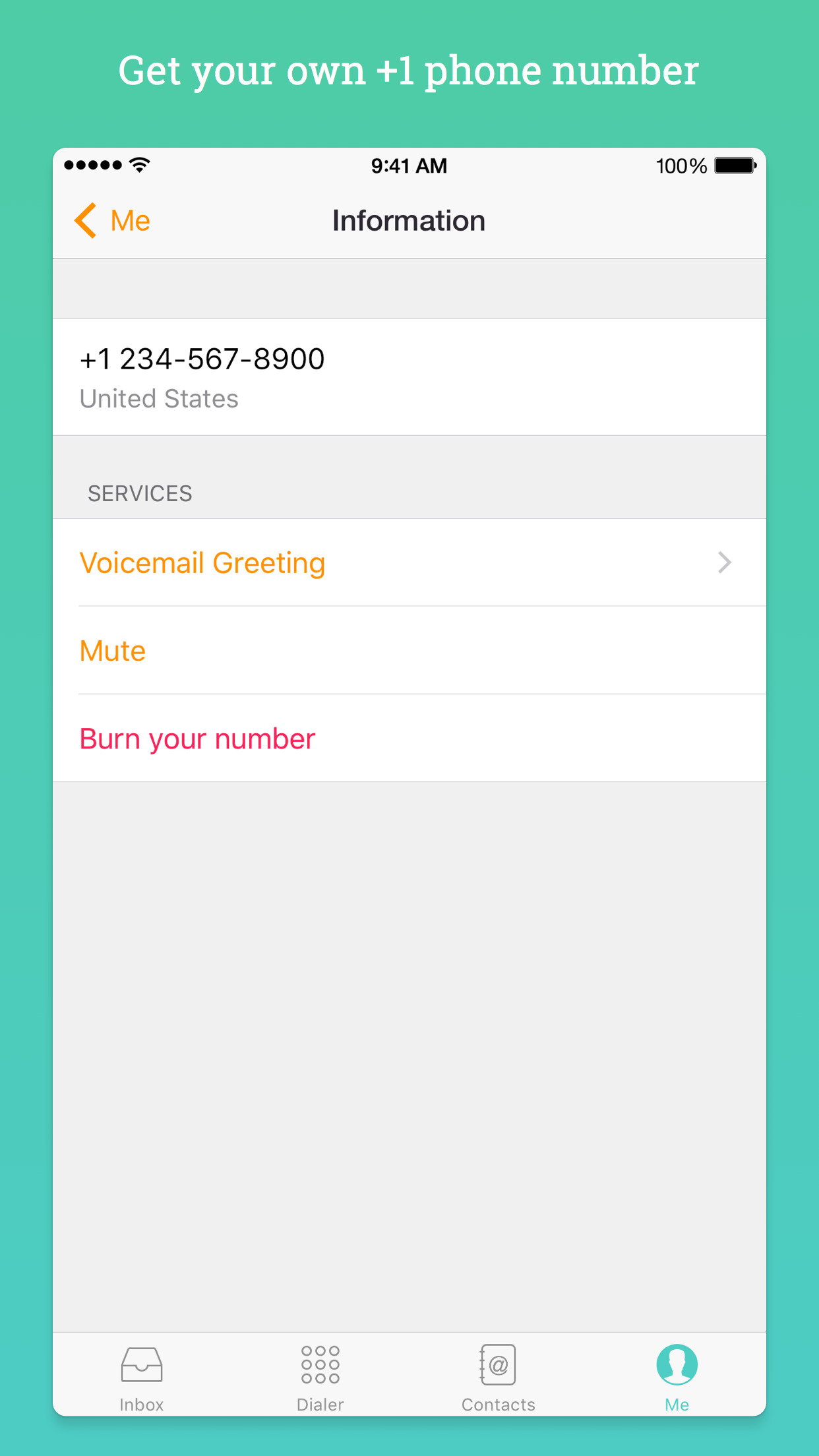 Free Tone - Unlimited Text & Calls with 2nd Number Screenshot