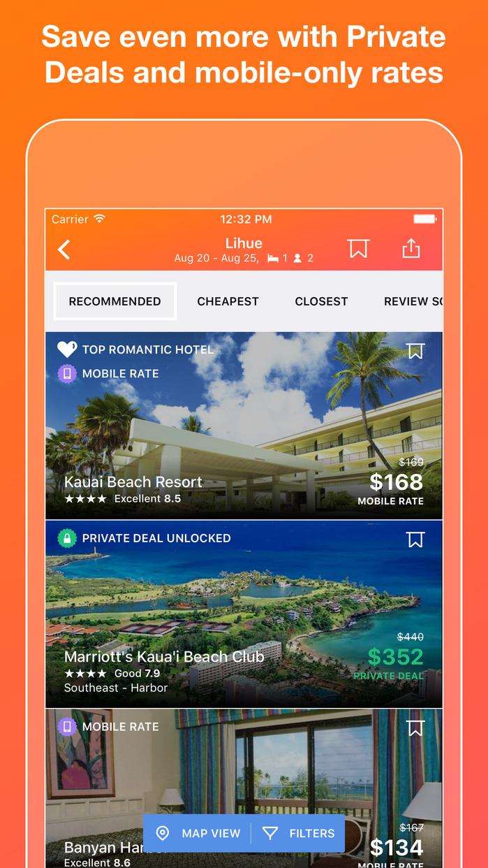 KAYAK Flights, Hotels & Cars Screenshot