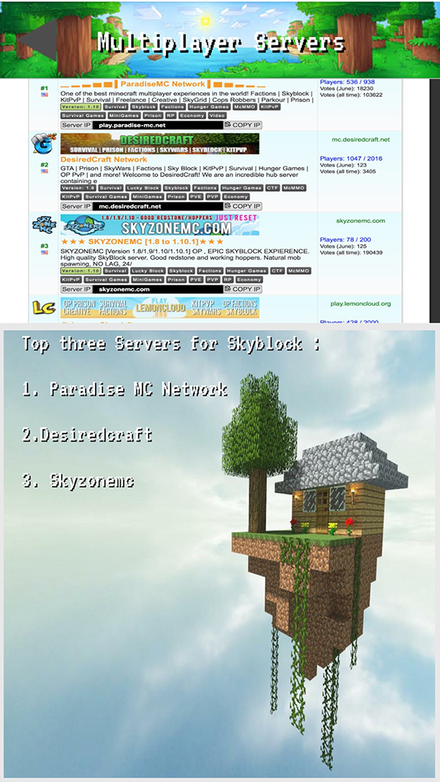 Skyblock Mod with Servers for Minecraft Pc - Best Mod Ever Created
