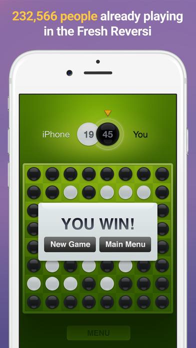 Fresh Reversi – Othello Like Strategy and Logic Board Game Screenshot on iOS