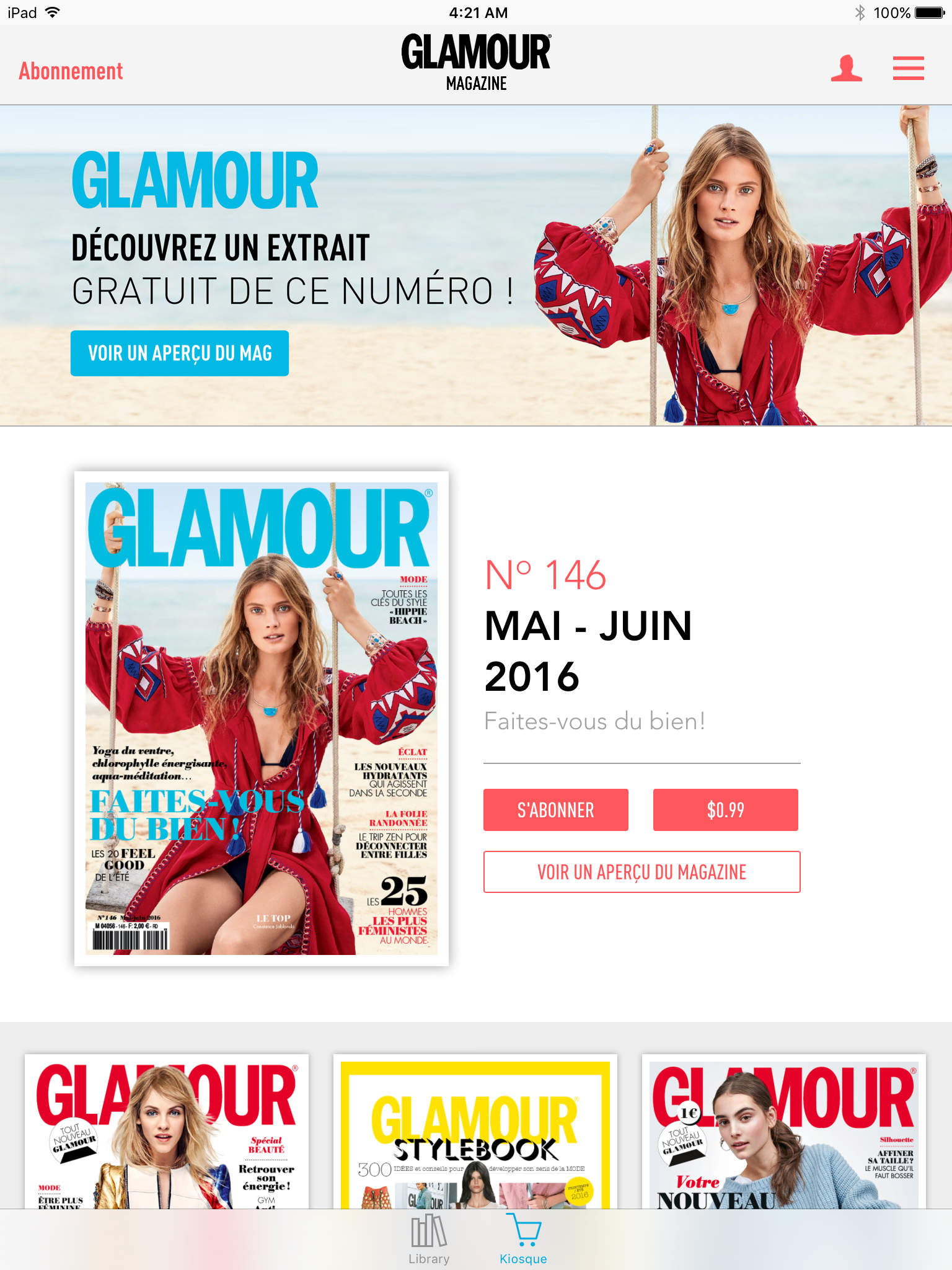GLAMOUR MAGAZINE FRANCE screenshot-1