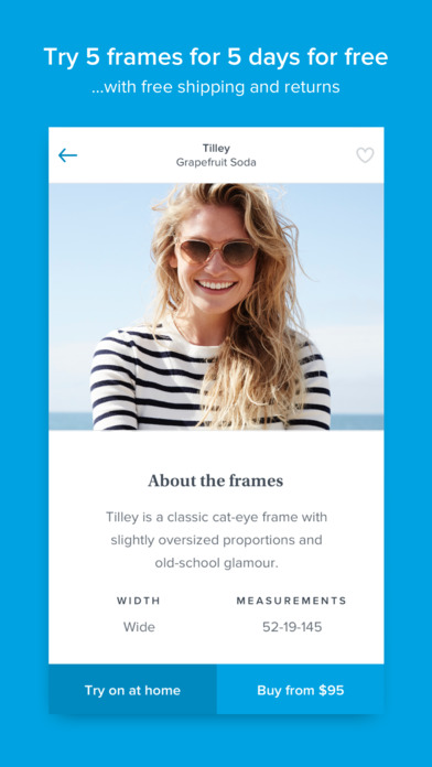 Warby Parker - Prescription Eyeglasses and Sunglasses Screenshot