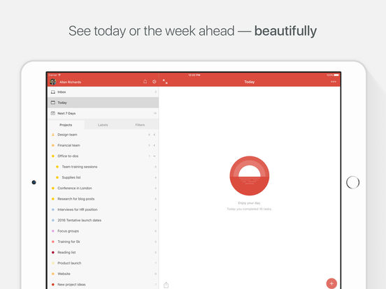Todoist: Список задач | To-Do List Screenshot