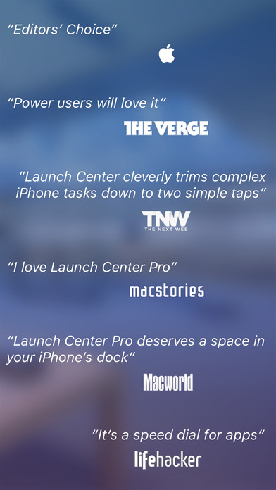 Launch Center Pro - Shortcut launcher and Today widget Screenshot