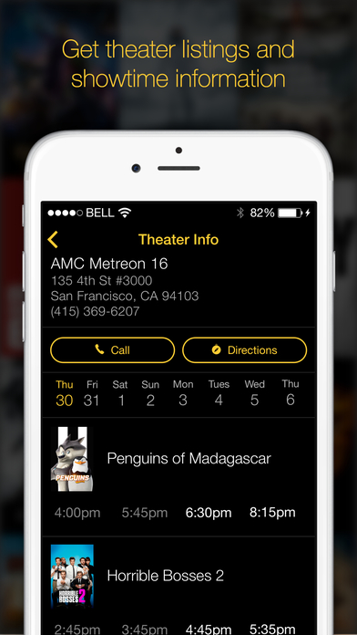 Showtimes, Trailers, Movie Tickets by Marquee Screenshot