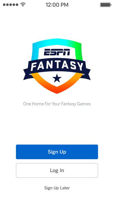 ESPN Fantasy Football Baseball Basketball Hockey Screenshot