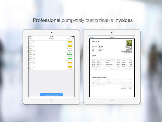 TimeTrack - Timesheet and Invoicing Screenshot