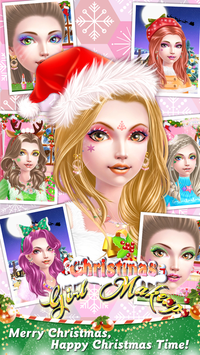 christmas girl makeup girl game screenshot on ios