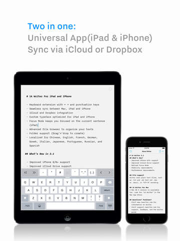 Writing app for ipad dropbox crash