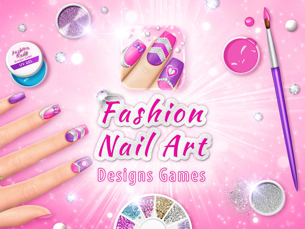 App Shopper: Fashion Nail Art Designs Game: Pink Nails