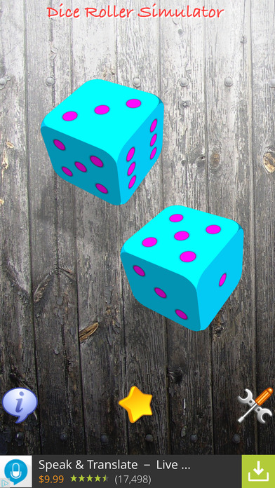 Dice Roller Simulator HD FREE Screenshot