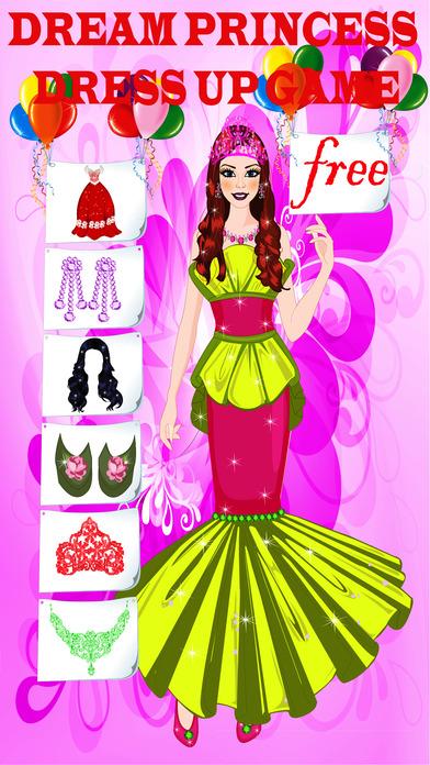 Dream Princess Dress Up Game Screenshot on iOS