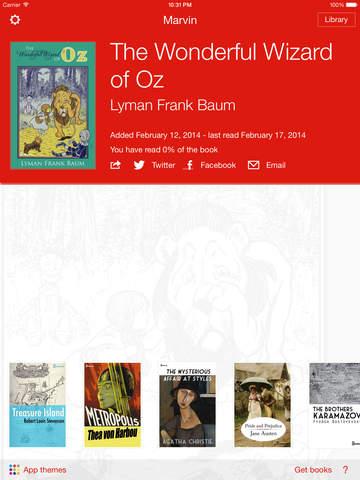 Marvin Classic - eBook reader for epub Screenshots