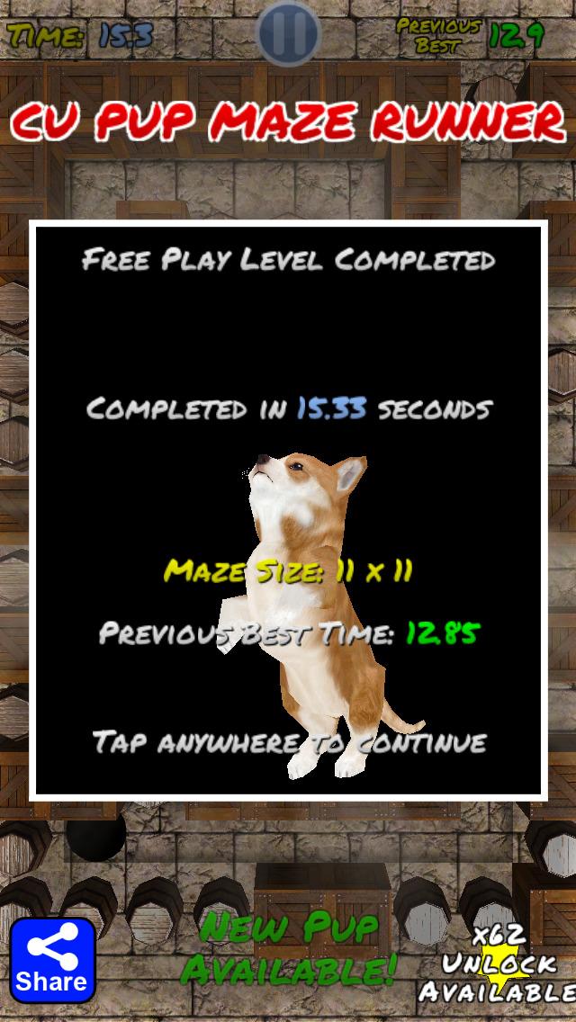 Cu Pup Maze Runner Screenshot on iOS