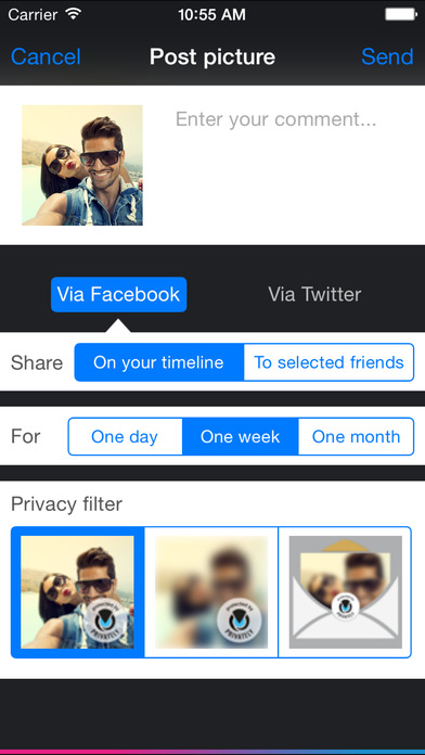 Privately app Screenshot