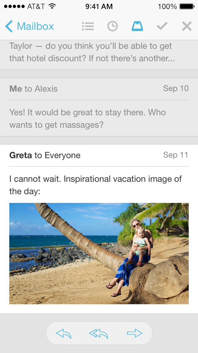 Mailbox Screenshot on iOS