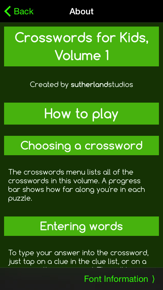 Crosswords for Kids 1 Screenshot on iOS
