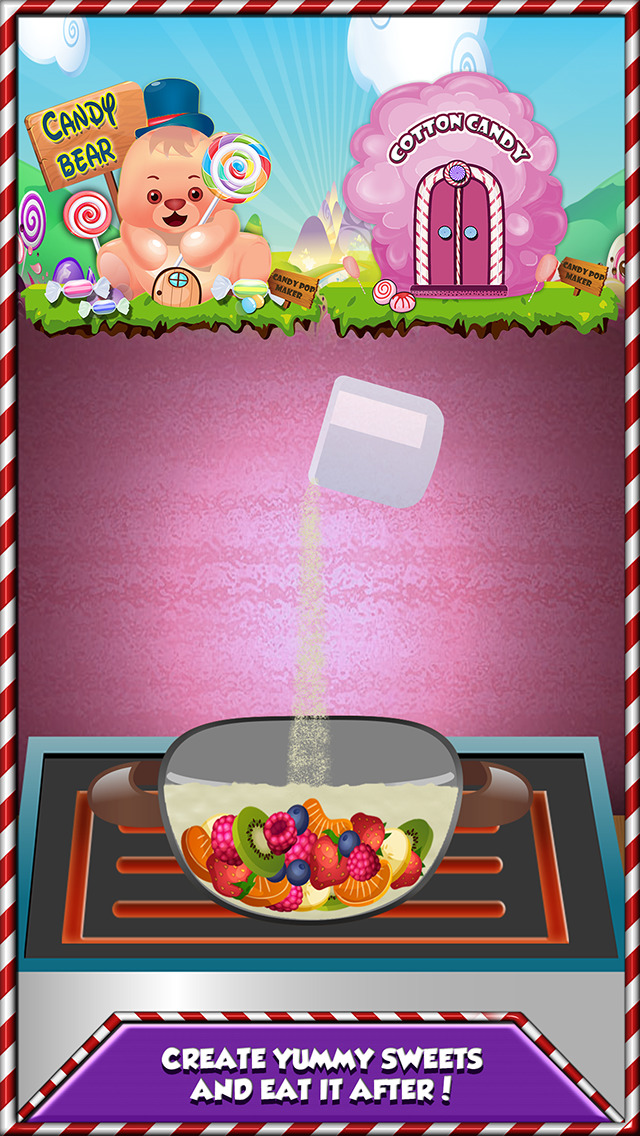 Sweet Candy Dessert - Make Crazy Chocolate, Lolly, Jelly