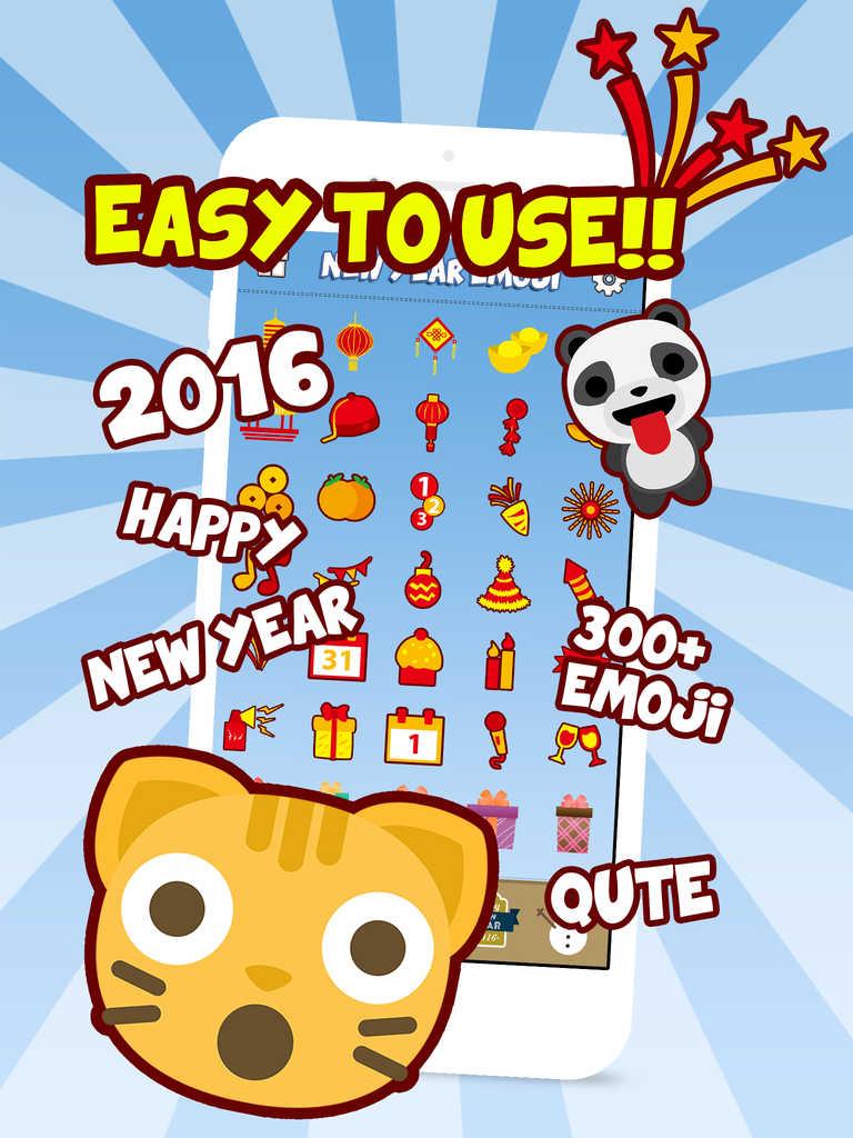 App Shopper: New Year Emoji - Holiday Emoticon Stickers ...